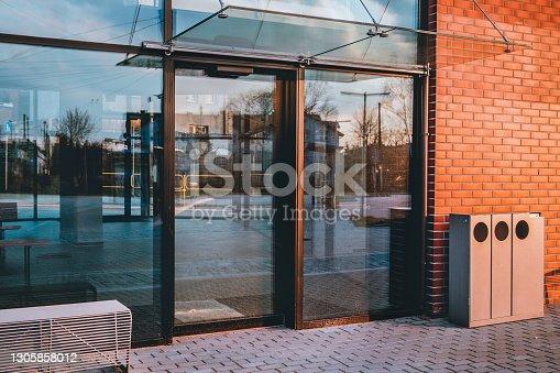 istock Glazed door 1305858012