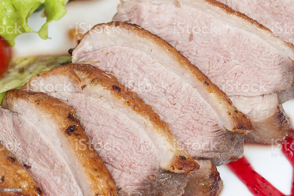 Glazed duck fillet royalty-free stock photo
