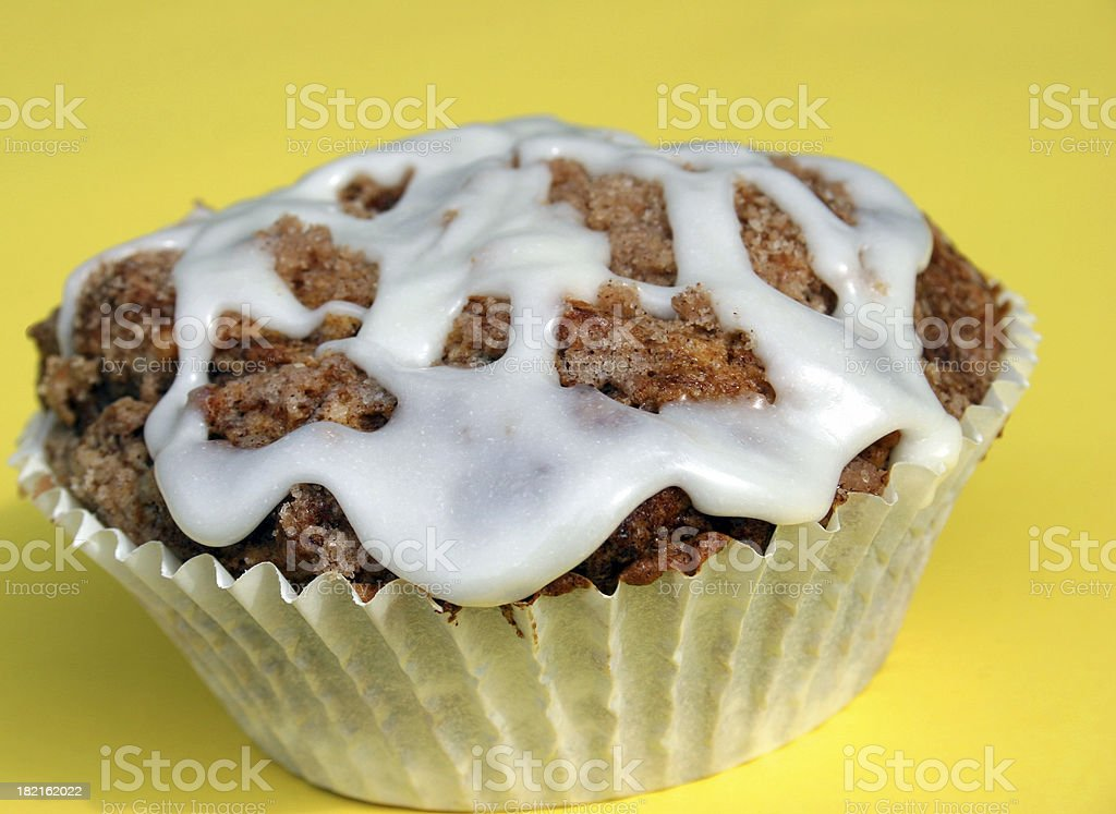 Glazed Muffin on Yellow royalty-free stock photo
