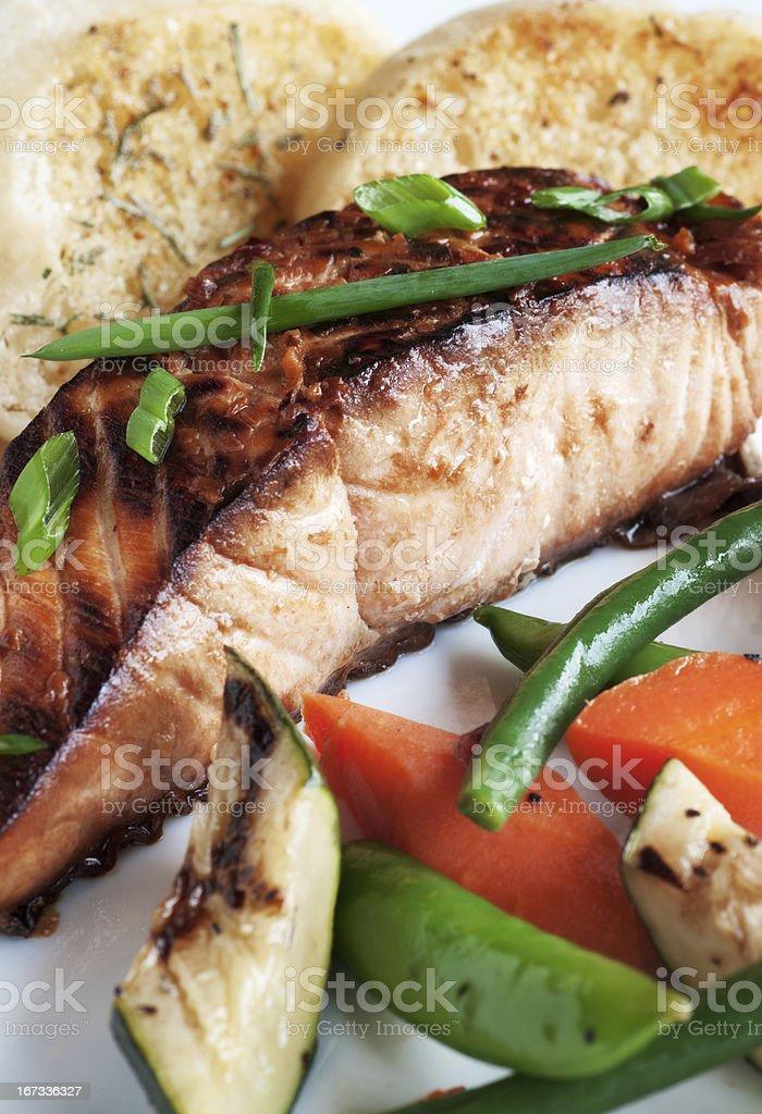 Glazed Salmon Fillet stock photo