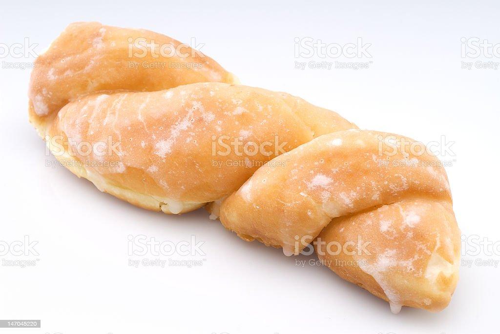 Glazed Twisted Donut stock photo