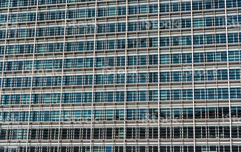 Glazing of the Berlaymont building stock photo