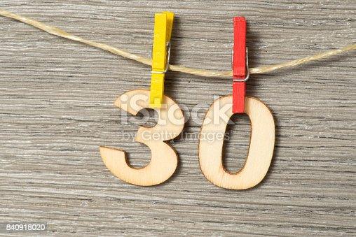 istock Glückwunsch zum 30 Geburtstag 840918020