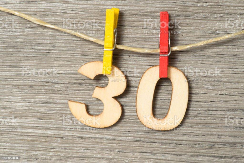 Congratulazioni zum 30 Geburtstag - foto de stock