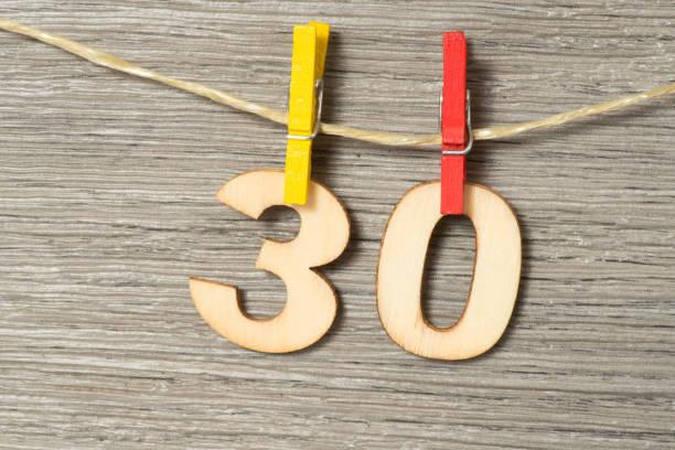 Glückwunsch zum 30 Geburtstag stock photo
