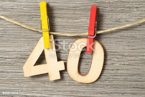 istock Glückwunsch zum 40 Geburtstag 840915816
