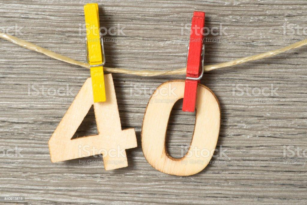 Glückwunsch zum 40 Geburtstag stock photo