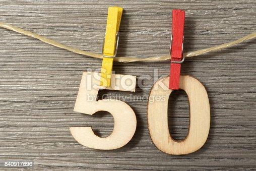 istock Glückwunsch zum 50 Geburtstag 840917896
