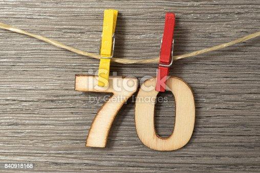 istock Glückwunsch zum 70 Geburtstag 840918168