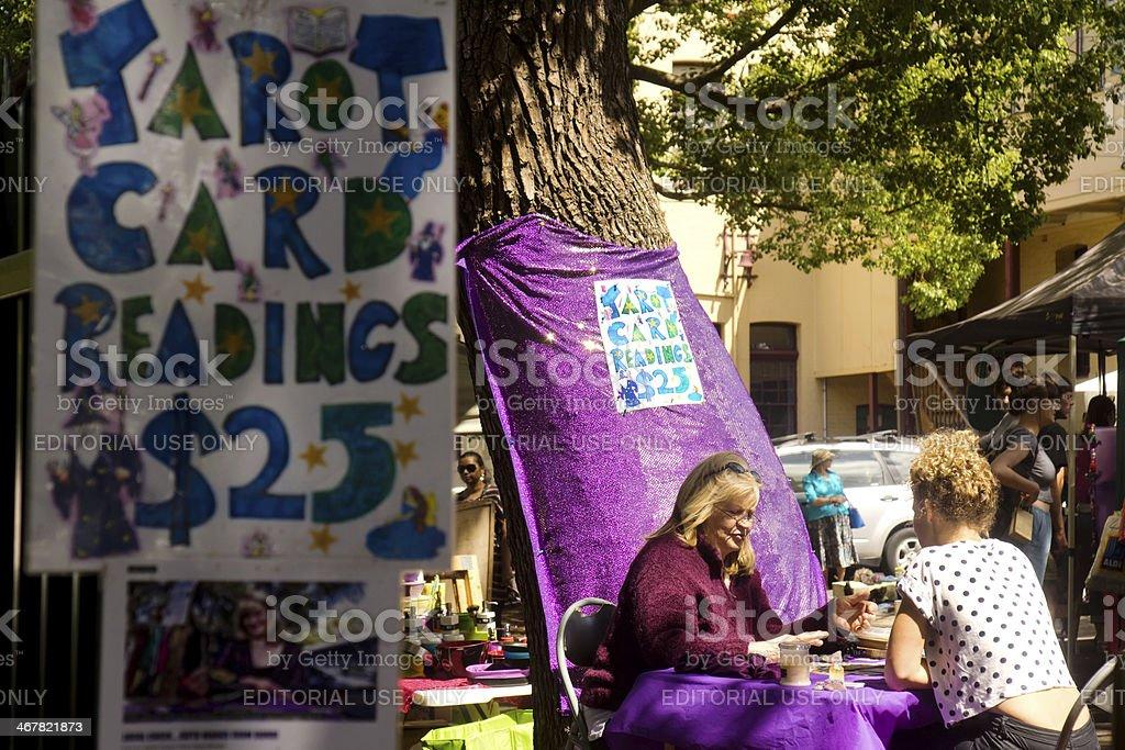 Glebe Markets - Tarot Card Reader royalty-free stock photo