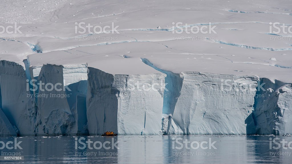 Gleciar in Antarctica stock photo