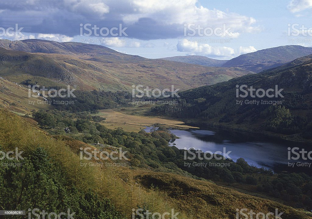 Glen and Loch Trool, Galloway, Scotland stock photo