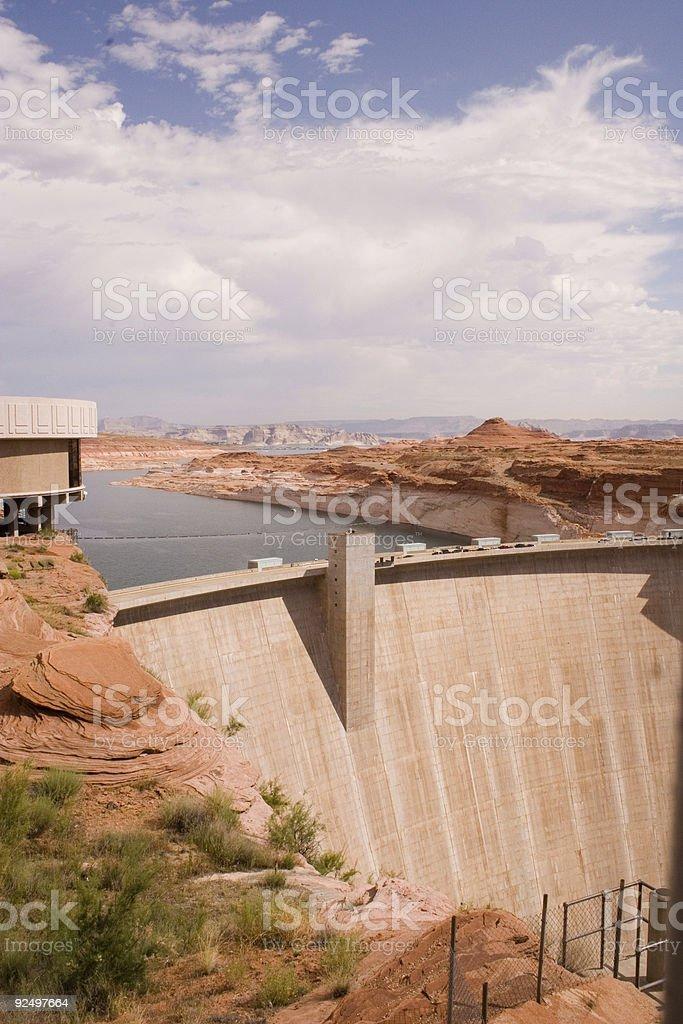 Glen Canyon Dam 1 (vertical orientation) royalty-free stock photo