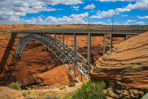 The Glen Canyon Bridge in the summer of 2008