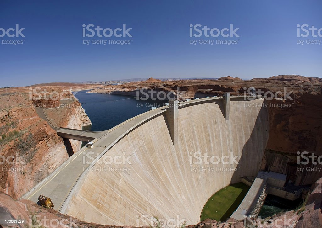 Glen Canyon Dam at Lake Powell & Page, AZ royalty-free stock photo