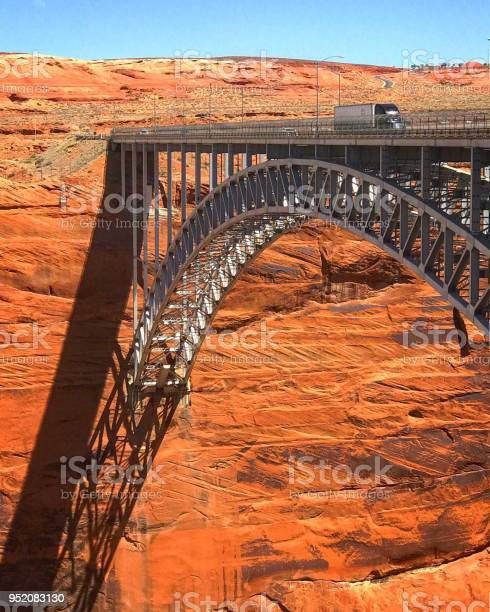 Glen Canyon Dam Bridge in Page , Arizona