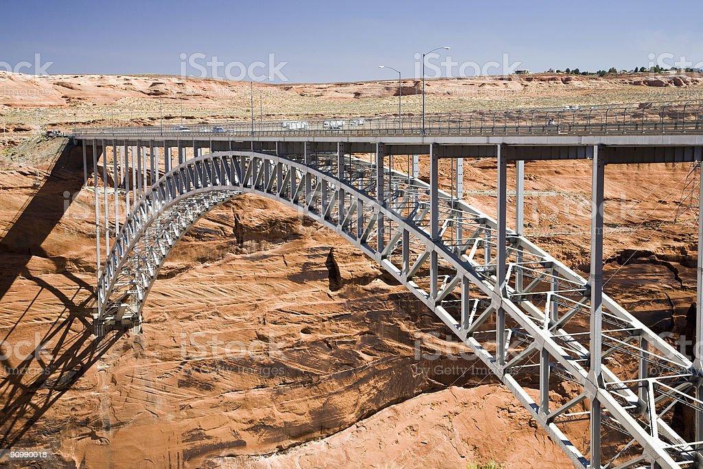 glen canyon dam bridge royalty-free stock photo