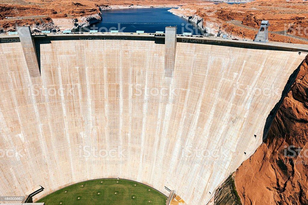 Glen Canyon Dam Colorado River, Powell Lake USA stock photo