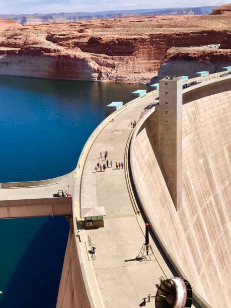 Glen Canyon Dam in Page , Arizona USA Glen Canyon Dam in Page , Arizona USA page arizona stock pictures, royalty-free photos & images