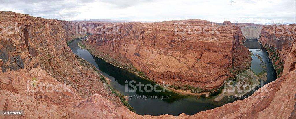 Glen Canyon panorama stock photo