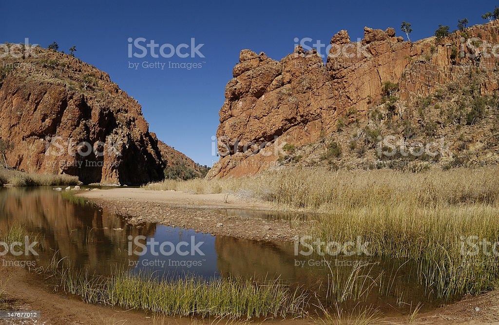 Glen Helen Gorge royalty-free stock photo