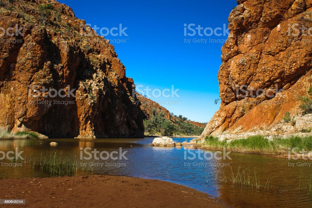 Glen Helen Gorge, West Macdonnell Ranges, central Australia stock photo