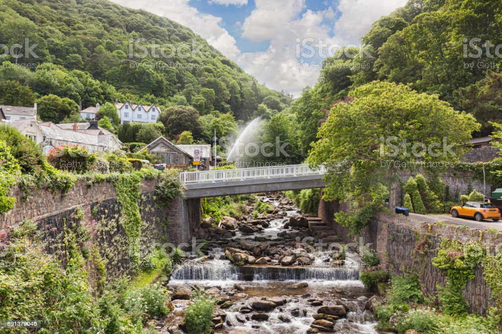 Glen Lyn Gorge Lynmouth Devon stock photo
