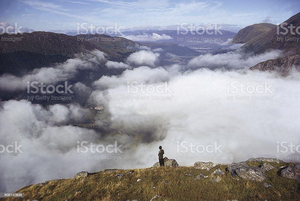 Glen Nevis in Morning Cloud stock photo