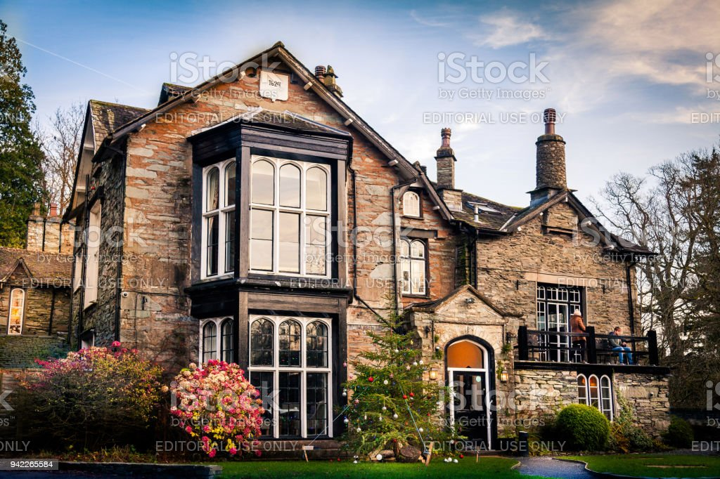 Glen Rothay Inn, At Rydal, Ambleside stock photo
