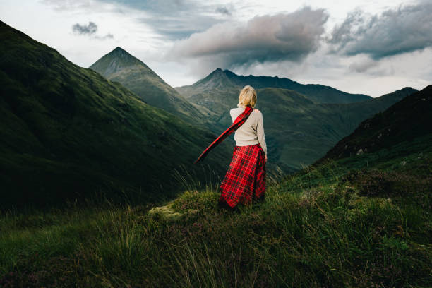 Glen Shiel view, with freedom, Scotland stock photo