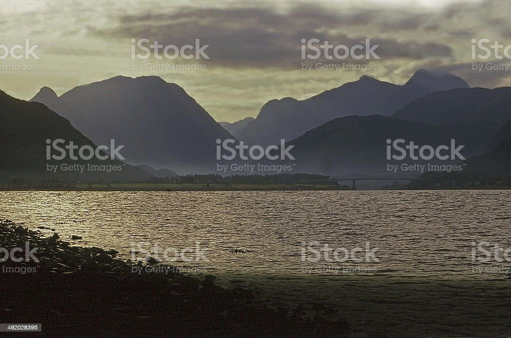 Glencoe & Loch Leven from the West stock photo
