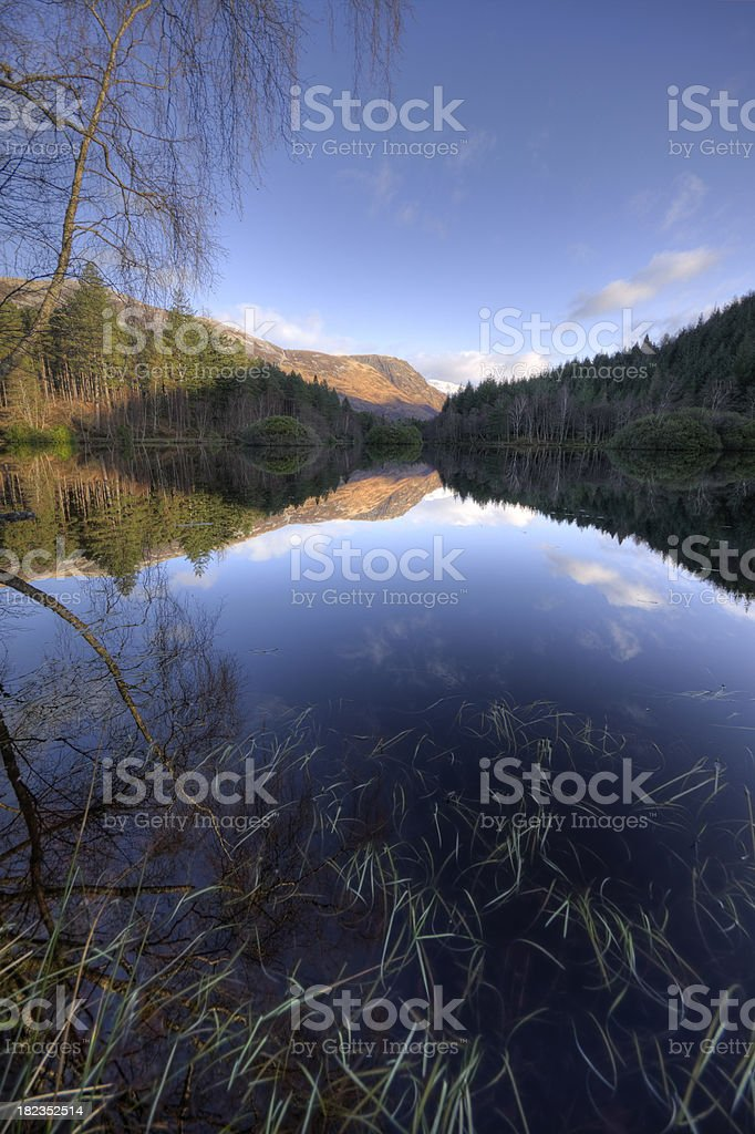 Glencoe Lochan Reflections, The Highlands, Scotland. royalty-free stock photo