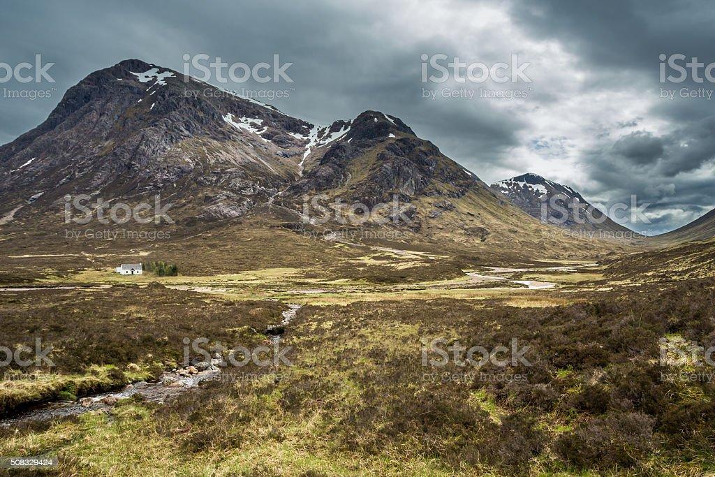 Glencoe mountain landscape in Lochaber, Scottish Higlands stock photo