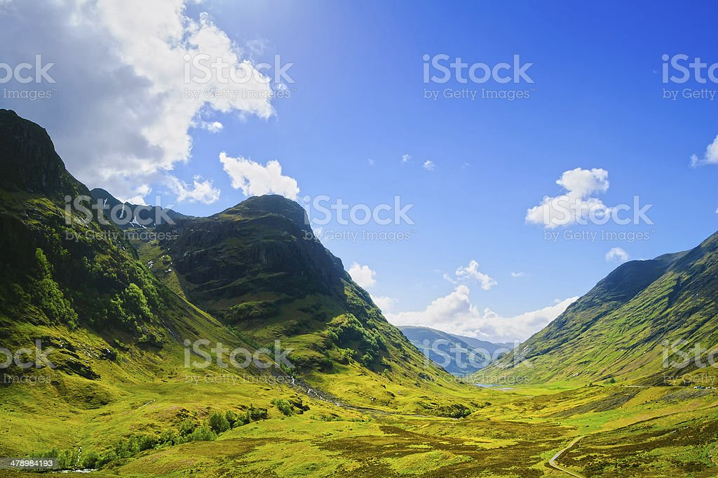 Glencoe mountain landscape in Lochaber, Scottish Higlands, Scotl stock photo