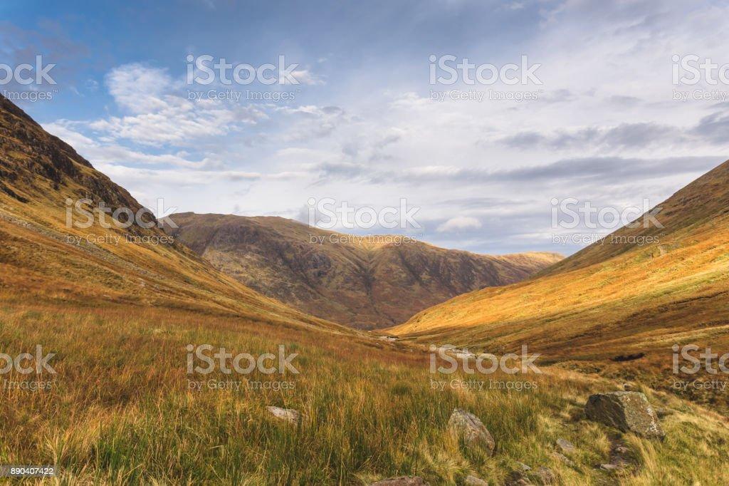 Glencoe Mountains stock photo