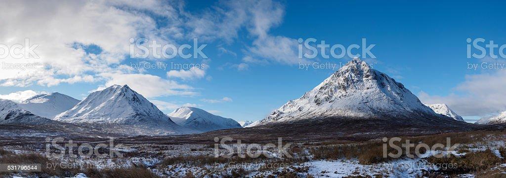 Glencoe Panorama stock photo