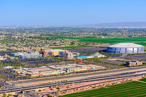 Glendale Arizona, entertainment district, stadium, Phoenix AZ stock photo