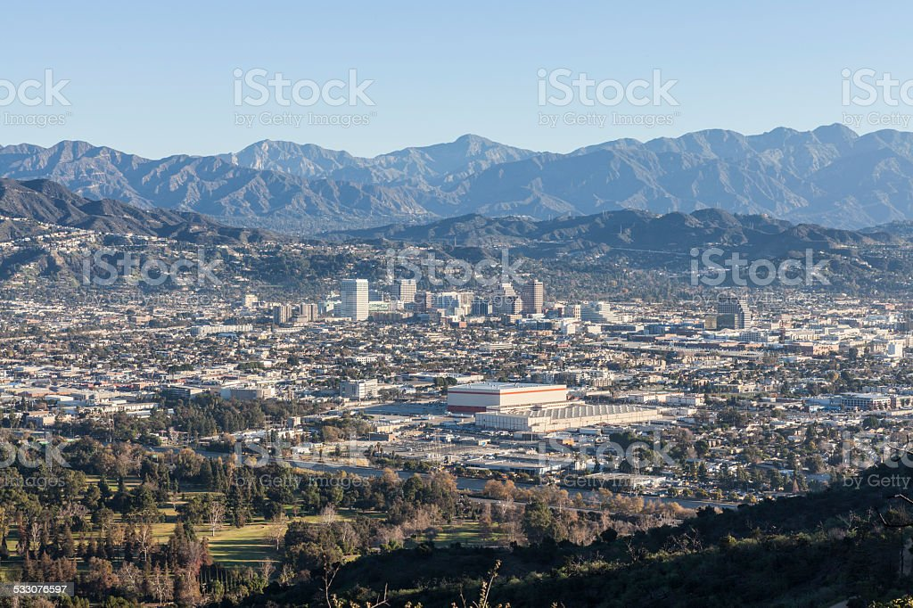Glendale California Mountain View stock photo
