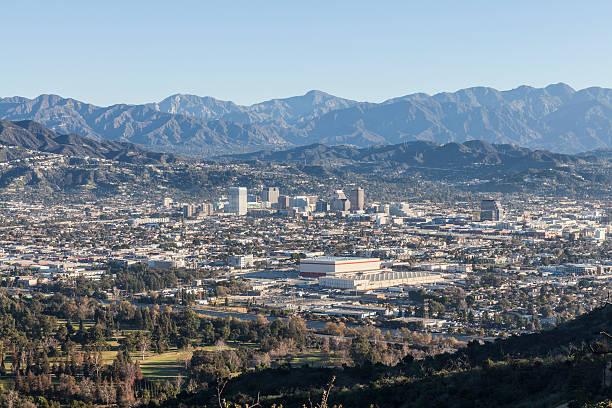 glendale california mountain view - san fernando valley stock photos and pictures
