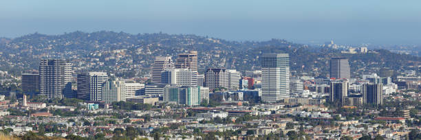 glendale - california - skyline - san fernando valley stock photos and pictures