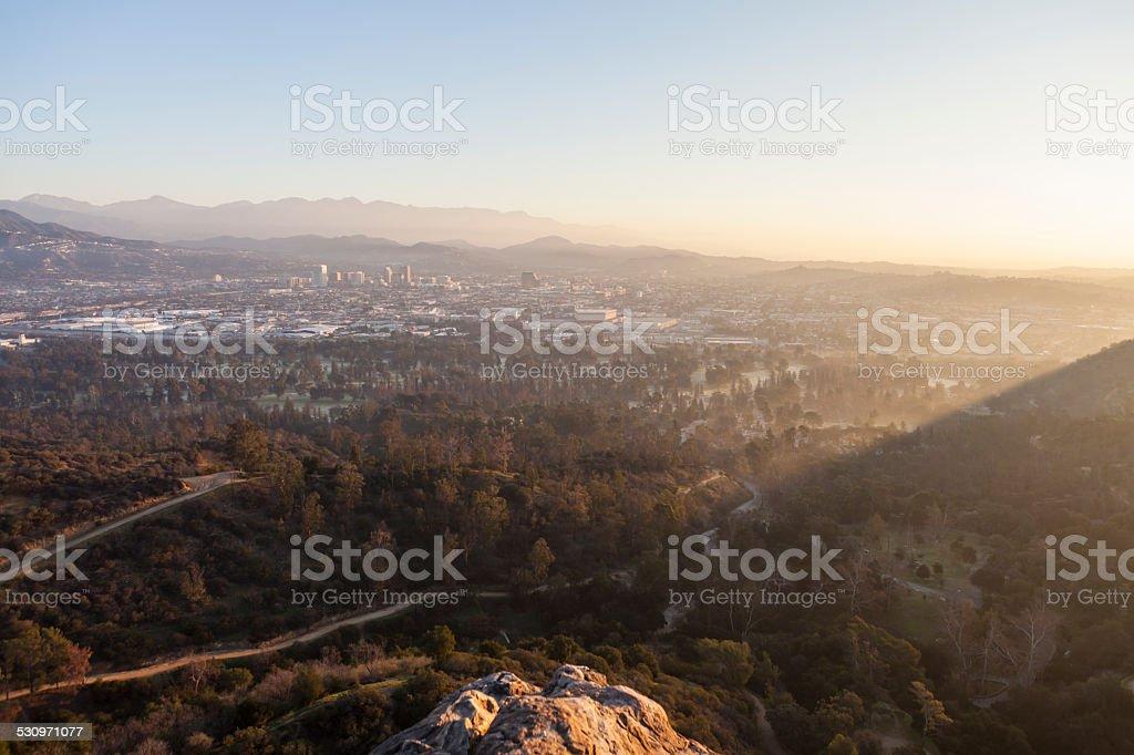 Glendale California Sunrise stock photo