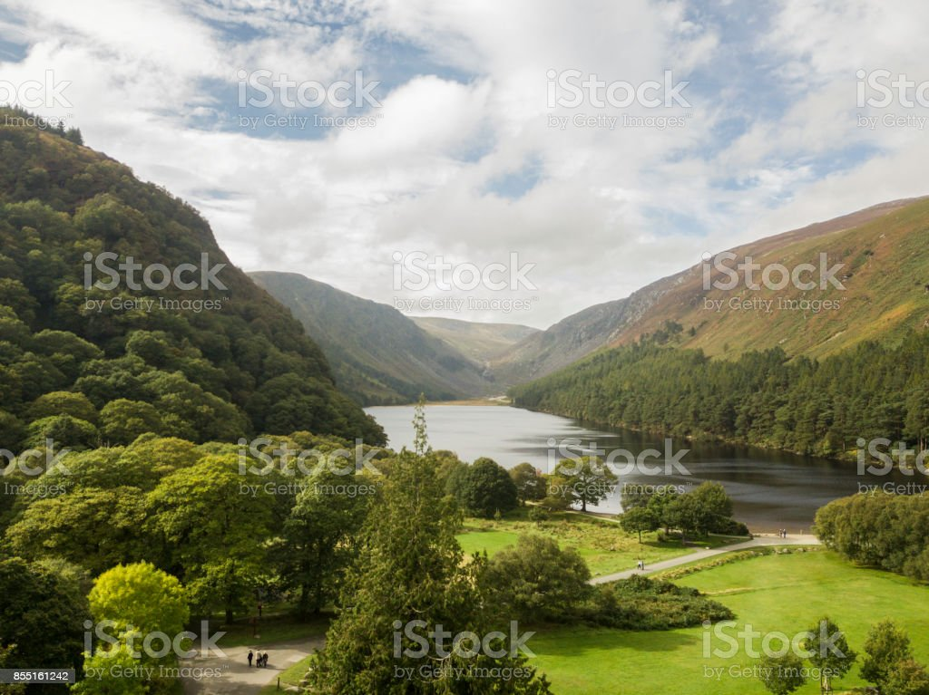 Glendalough, Glendalough Forest Park, Wicklow, Ireland. royalty-free stock photo