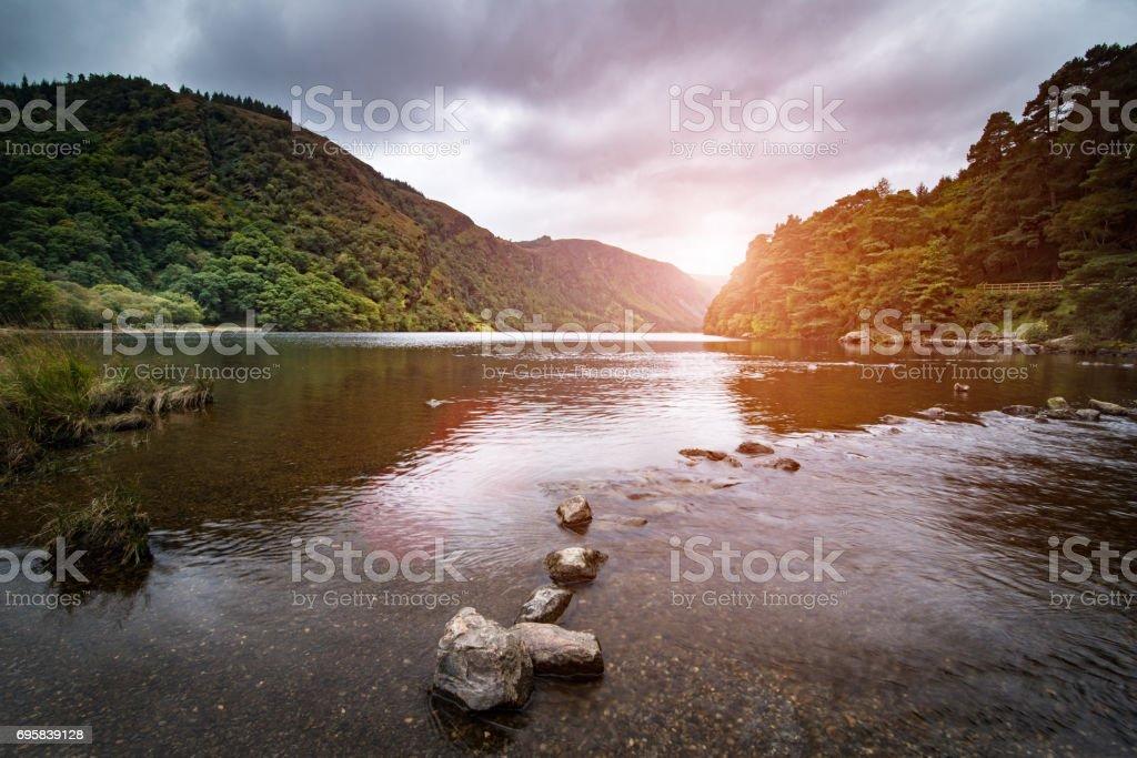 Glendalough upper lake park stock photo