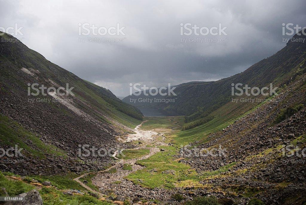 Glendalough Upper Lake stock photo