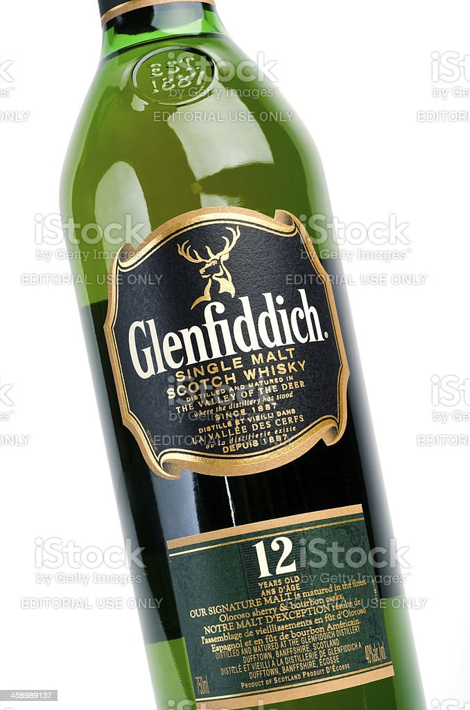 Glenfiddich Single Malt stock photo
