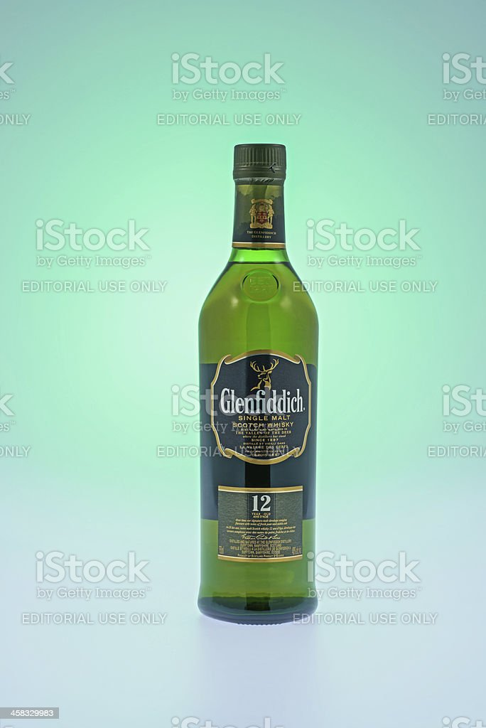 Glenfiddich Single malt Scotch Whiskey royalty-free stock photo