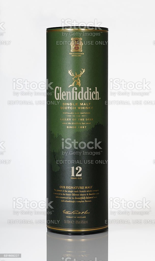Glenfiddich whisky stock photo