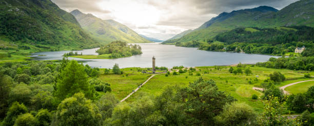 Glenfinnan Monument, at the head of Loch Shiel, Inverness-shire, Scotland. Glenfinnan Monument, at the head of Loch Shiel, Inverness-shire, Scotland. inverness scotland stock pictures, royalty-free photos & images