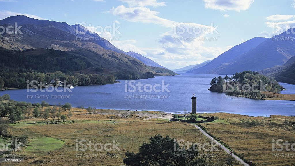 Glenfinnan Monument royalty-free stock photo
