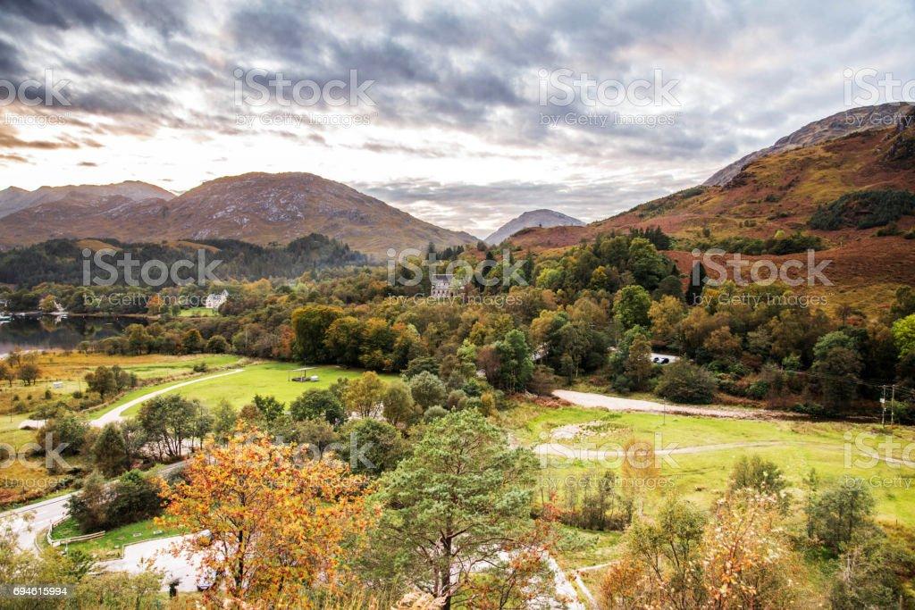 Glenfinnan, Scotland stock photo
